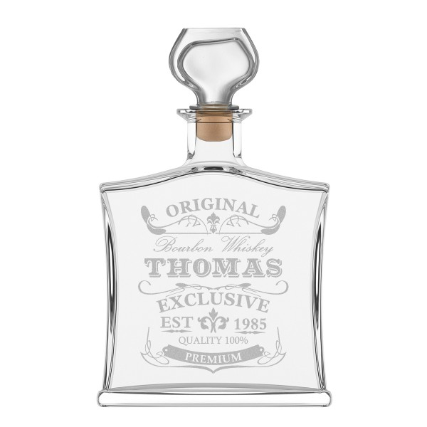"Edle Whiskyflasche inkl. Gravur - Motiv - ""Original-Exklusive"""