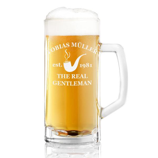 Bierkrug / Bierseidel Toni mit persönlicher Wunschgravur