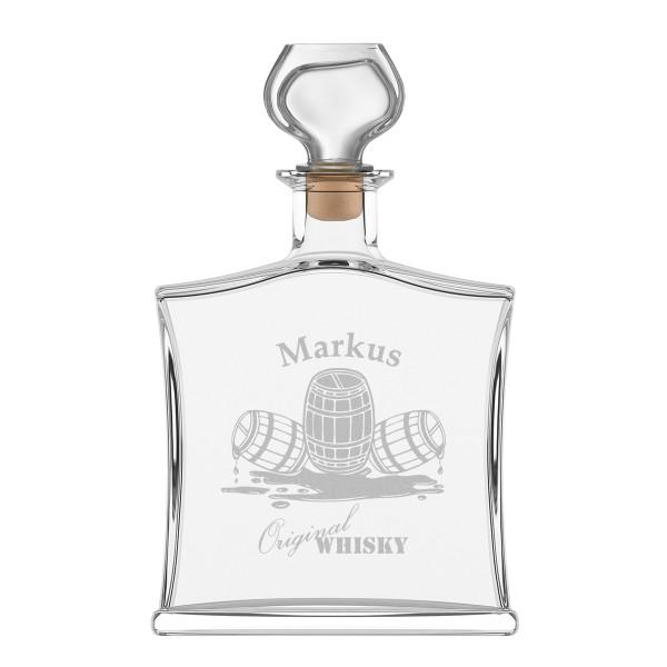 """Edle Whiskyflasche inkl. Gravur - Motiv - """"Whiskyfass"""""""