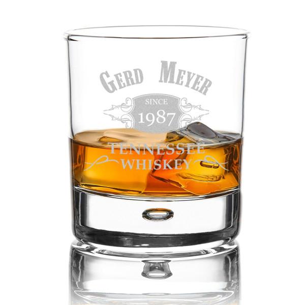 Personalisiertes Glas mit Wunschgravur für Whisky