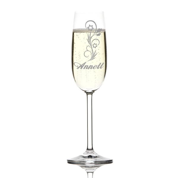 Sektglas mit Personalisierung