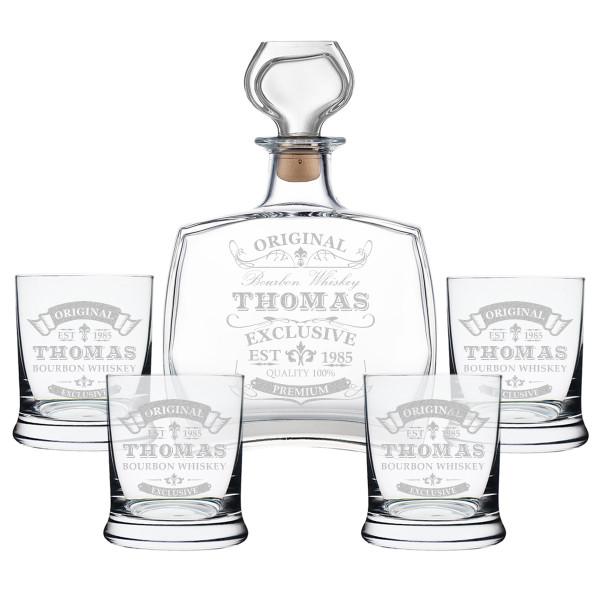 Whiskyfass 5-TLG mit personalisierter Wunschgravur