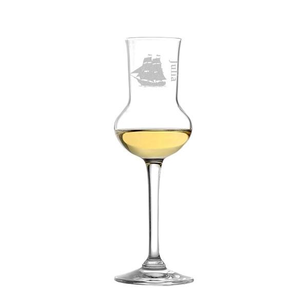 Grappaglas mit personalisierten Motiv