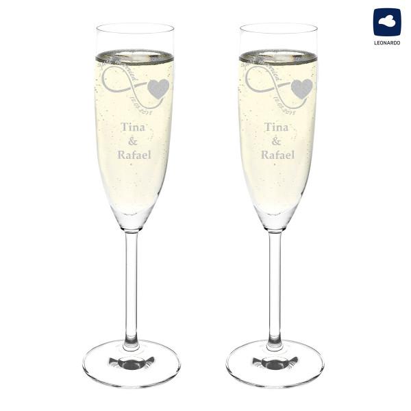 Personalisiertes Sektglas mit Wunschmotiv