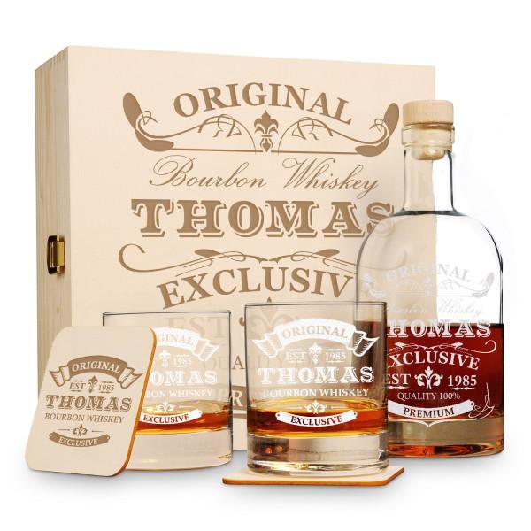 """6-tlg. Whisky Geschenkset New York Bar mit Gravur """"Original-Exklusive"""""""