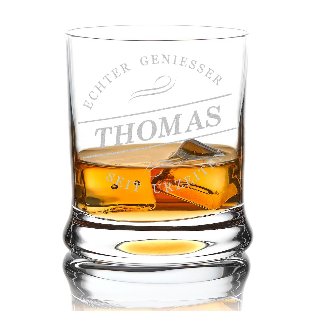 Gravur Echter Geniesser Sterne Leonardo Whiskyglas inkl