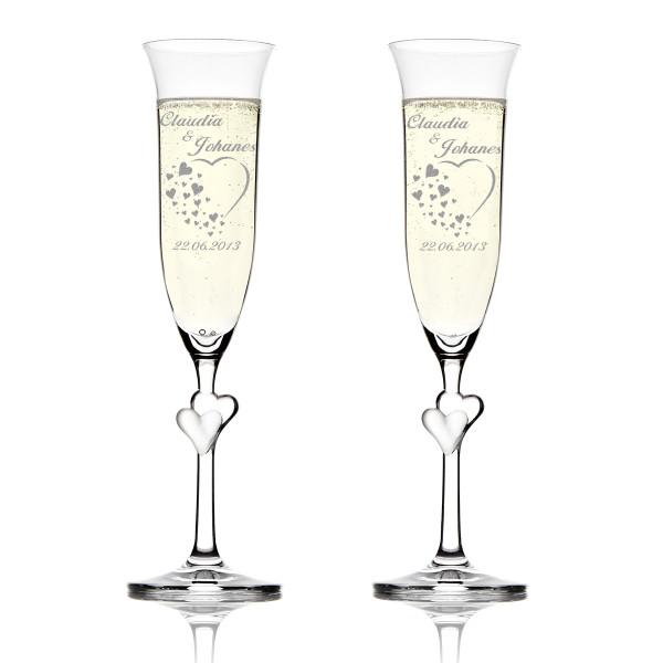 Sektglas personalisiert mit Wunschmotiv