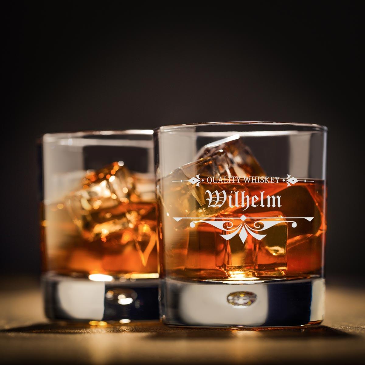Personalisiertes Whiskyglas inkl. Gravur Motiv traditionell
