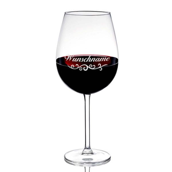 Rotweinglas / Weissweinglas mit Gratis Wunschgravur