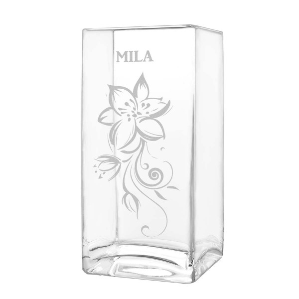 Blumenvase Vase mit personalisierter Gravur