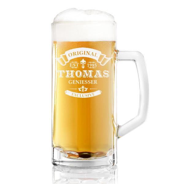 Bierkrug personalisiert mit Wunschmotiv