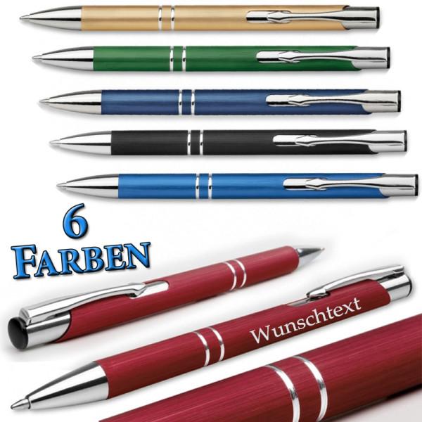 """Kugelschreiber """"Oleg brush"""" mit gebürsteter Oberfläche inkl. Gravur"""