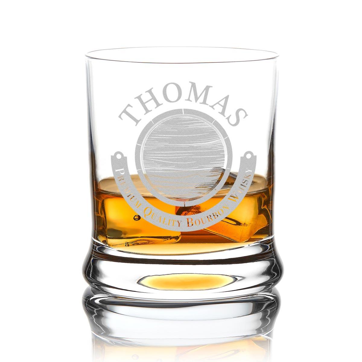Personalisiertes Whiskyglas inkl. Gravur Motiv Fass